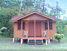 Charming Malay-style cottages at Juara Beach
