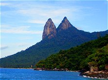 Tioman's Sleepy Dragon Mountain welcomes you as your ferry draws near