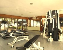 Fully-equipped fitness gym