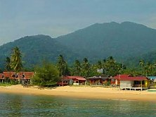 Tioman Paya Resort's golden beach, an absolute snorkeller's paradise