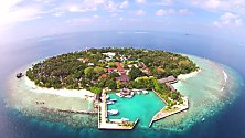 Maldives resort, a bird's eye view