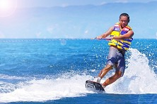 Tioman's waters tend to be flat, ideal for wakeboarding classes